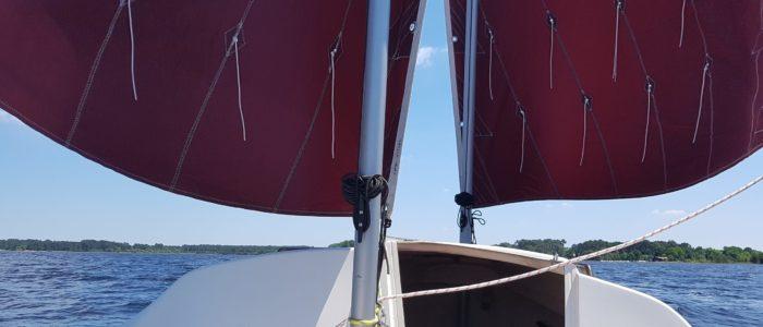 Skellig voiler transportable avec Voiles au tiers en ciseaux